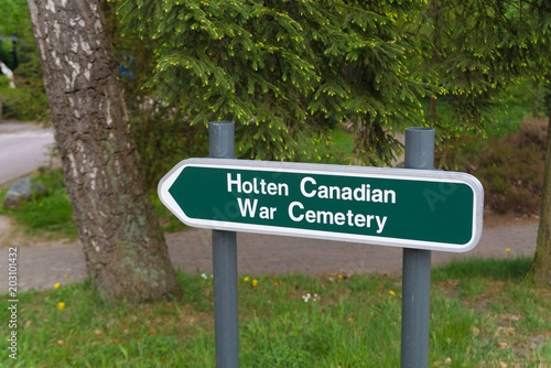 Poster  Holten canadian war cemetary signpost