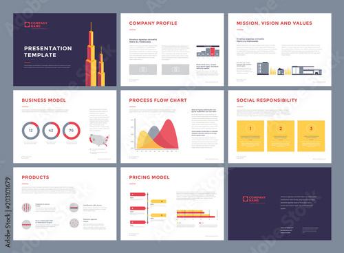 business presentation templates slideshow vector infographic