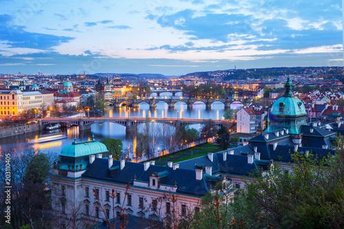 Plakat Praga nocą, Republika Czeska