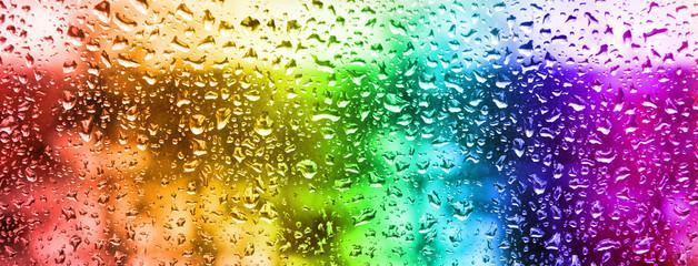 Naklejka 3D image of rain drops on glass