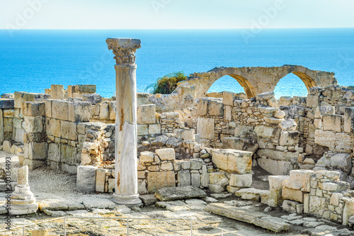 Foto op Canvas Cyprus Kourion archaeological site, ruins of ancient town, Cyprus, Limassol district