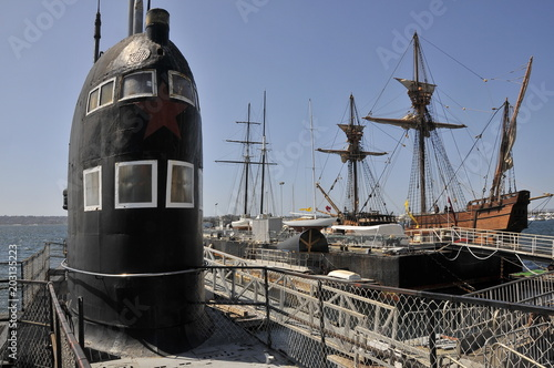 Photo  Old Russian submarine