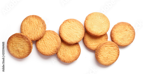 Fotografia butter cookies on white background