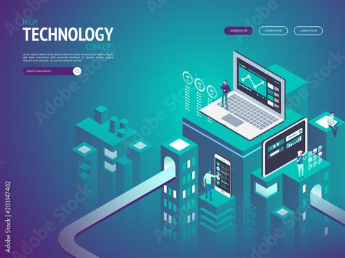 Fotografie, Tablou  High technology concept