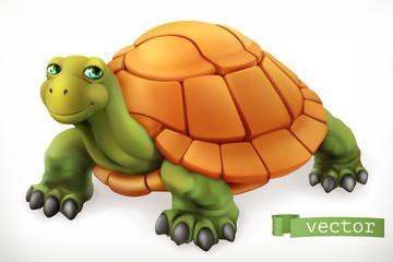 Śmieszny żółw. Ikona wektor 3D