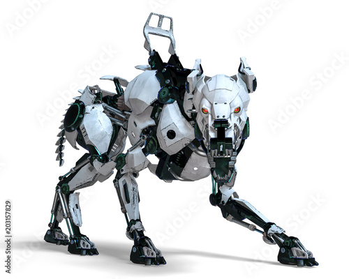 Photo guard dog robot security system