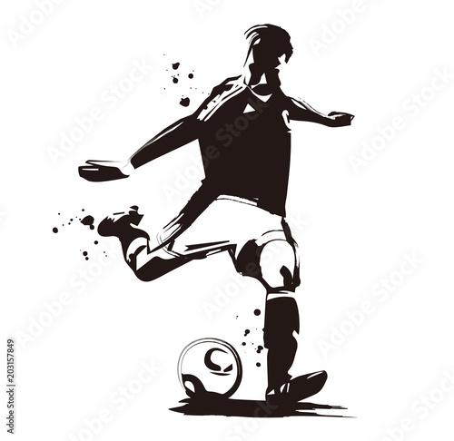 サッカー選手 Fototapet