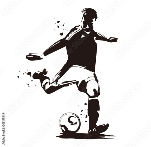 Fototapeta サッカー選手
