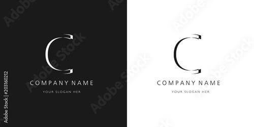 c logo letter design