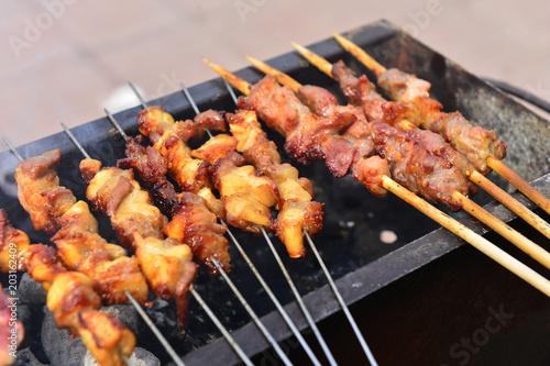 In de dag Grill / Barbecue The roast mutton