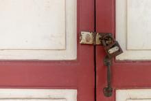 Old Door Wooden Cabinet With S...