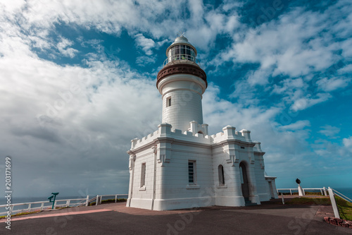 Fotografering Cape Byron Light - most powerful lighthouse in Australia