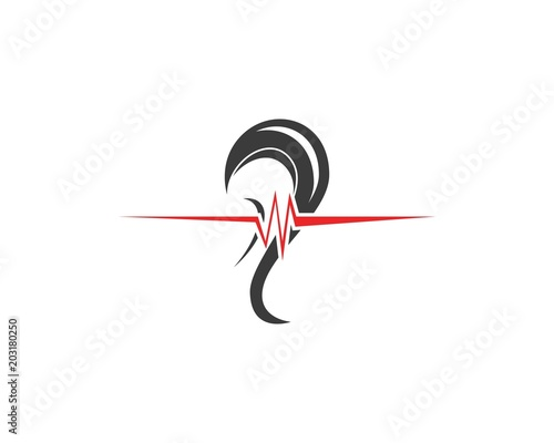 Hear icon  logo design template Tablou Canvas