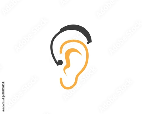 Hear icon  logo design template Fototapet
