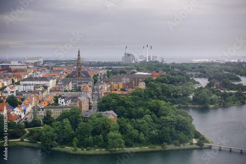 View over Copenhagen from Above