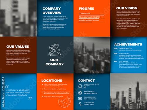 Cuadros en Lienzo Company profile template