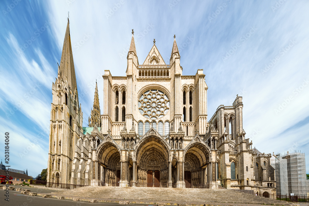 Fototapety, obrazy: South side of Chartres Cathedral