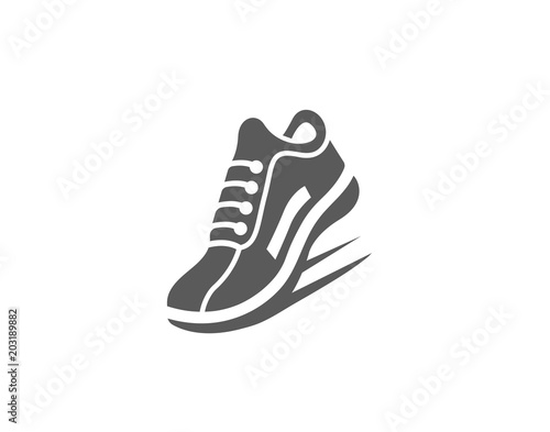 Modern Fast Running Sports shoe icon Canvas Print