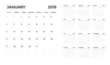 Calendar 2019 Template. Calend...