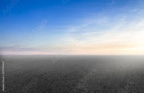 Photo Asphalt road and sky sunset