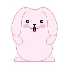 Cute Rabbit With Floppy Ears K...