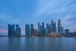 Singapore city skyline at night in Singapore