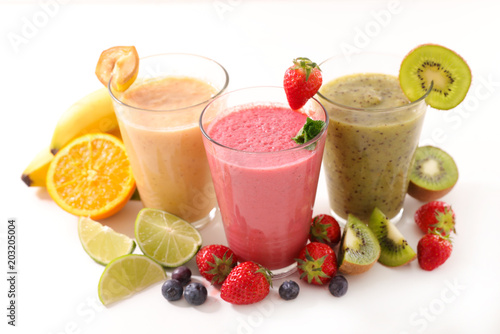 Papiers peints assorted juice or smoothie