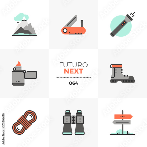 Fotografia Hiking Equipment Next Icons