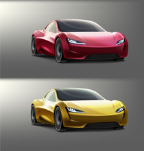 Vector Colored Supercars