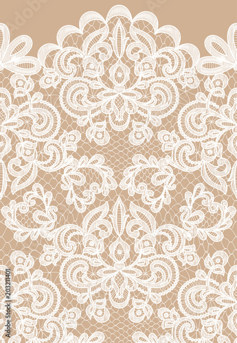 Fotobehang Stof Seamless white lace