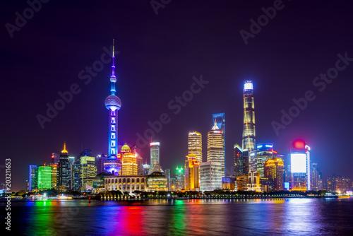 Foto op Aluminium Shanghai The skyline of urban architectural landscape in Lujiazui, Shanghai