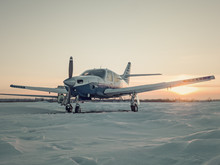 Light Aircraft On A Private Ai...