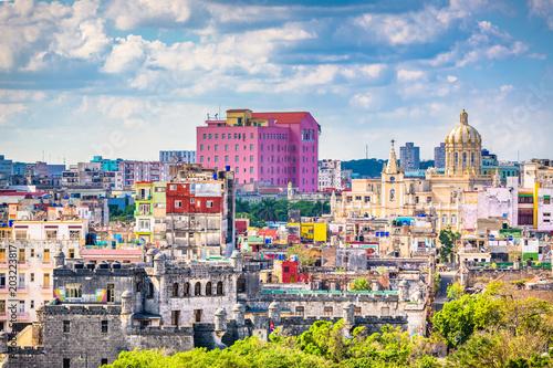 Poster de jardin Havana Havana, Cuba Skyline