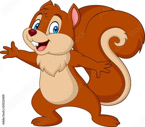 Fotografía  Cute squirrel cartoon