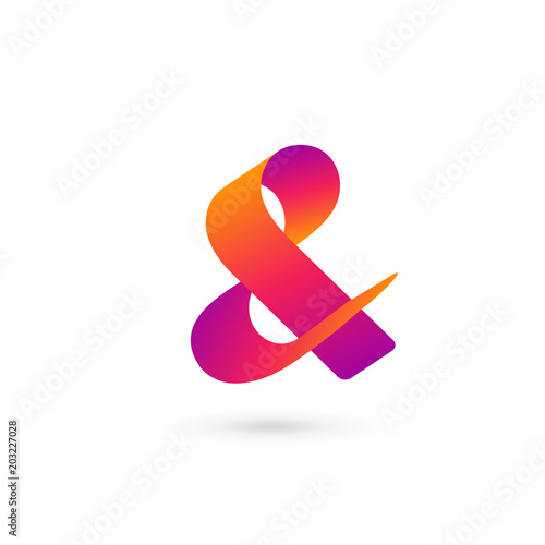 Photo Symbol & and ampersand logo icon design template elements