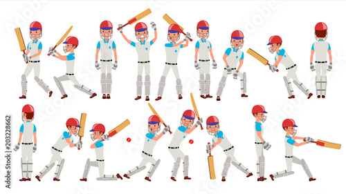 Obraz na płótnie Professional Cricket Player Vector