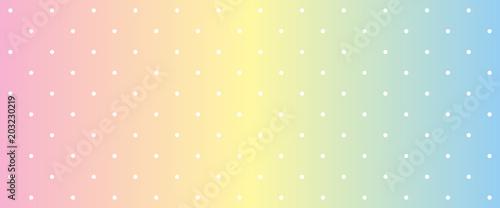 Photo  Pastel color rainbox gradient polka dot background