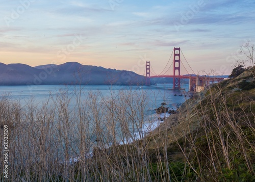 Keuken foto achterwand San Francisco Golden Gate bridge and San Francisco Bay