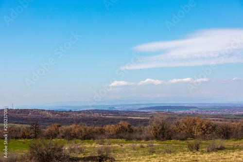Foto op Canvas Blauw Landscape