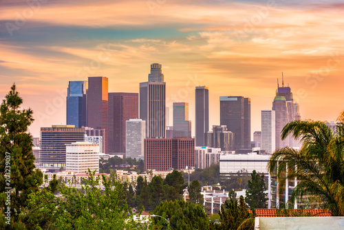 Plakat Los Angeles, Kalifornia, USA Skyline