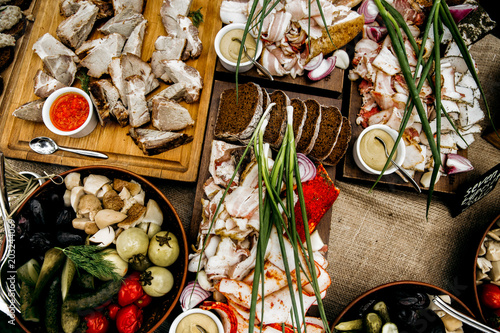Tuinposter Buffet, Bar Ukrainian national food