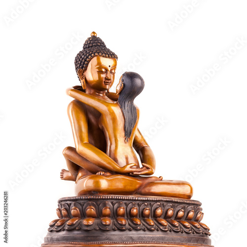 Buddha in union also known as yab yum position