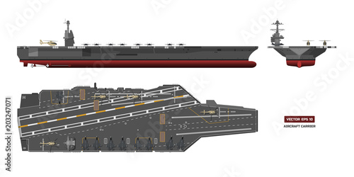 Fényképezés Detailed image of aircraft carrier