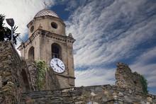 Clock Tower In Vernazza, Cinqu...