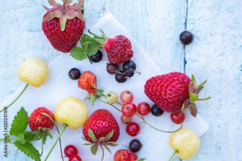 Poster Dans la glace spring berry harvest