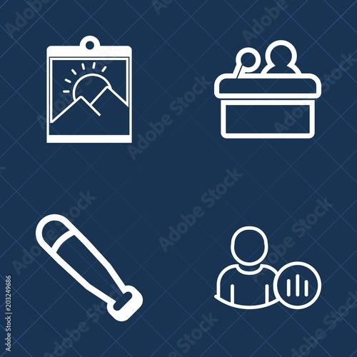 Premium set of outline vector icons  Such as internet, ball