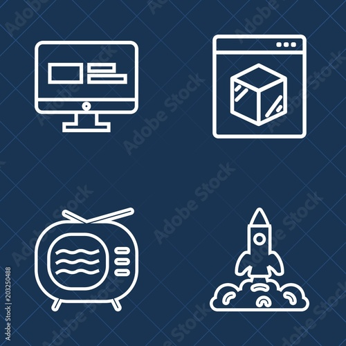 Premium set of outline vector icons  Such as internet