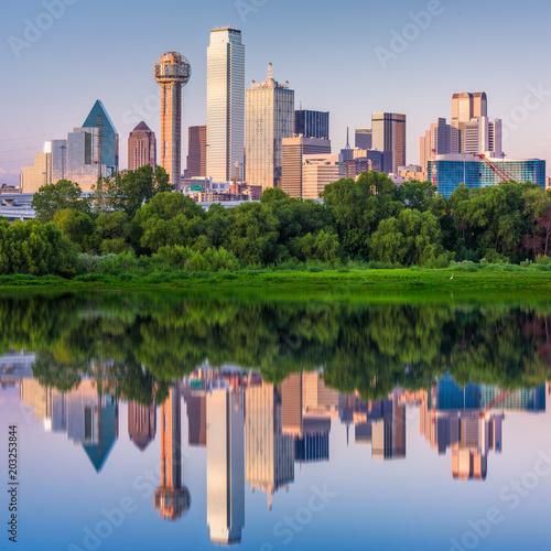 Aluminium Prints Texas Dallas, Texas, USA Skyline