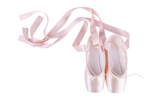 Pink Ballet Shoes Isolated On ...