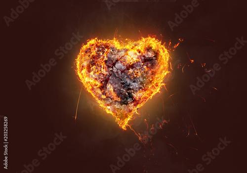 Papiers peints Tissu Brennendes Herz